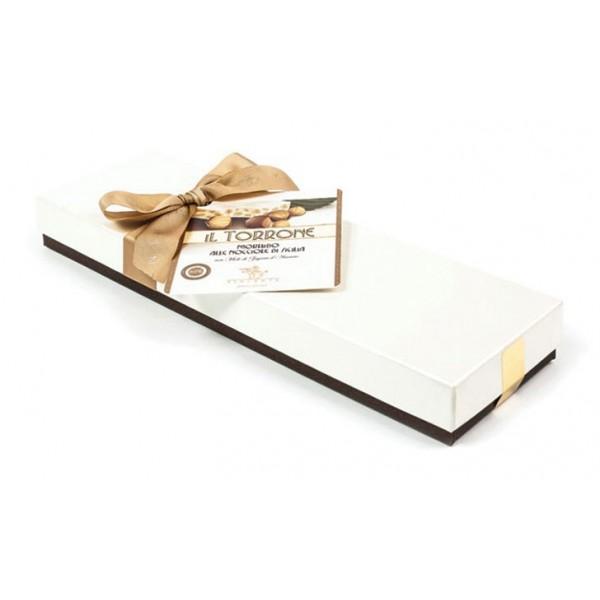 Vincente Delicacies - Torrone Morbido alle Nocciole Sicilia - Scatola Fiocco