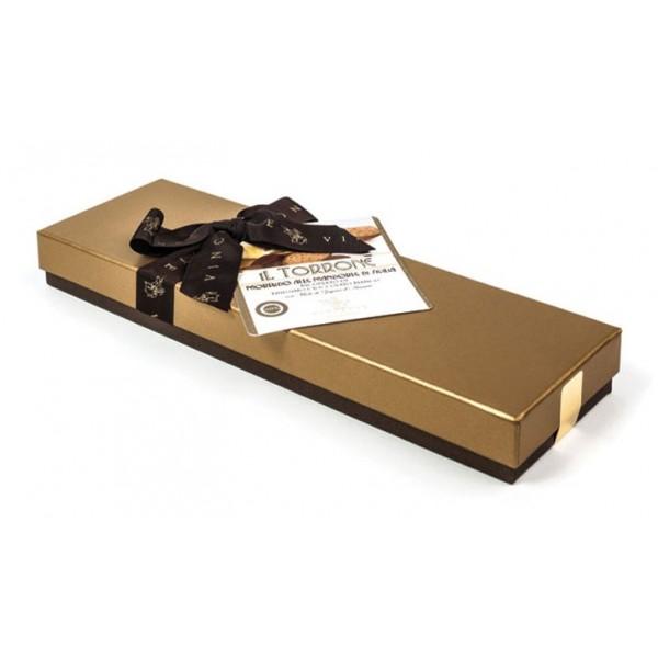 Vincente Delicacies - Torrone Morbido alla Mandorla Sicilia Ricoperto di Finissimo Cioccolato Bianco - Scatola Fiocco