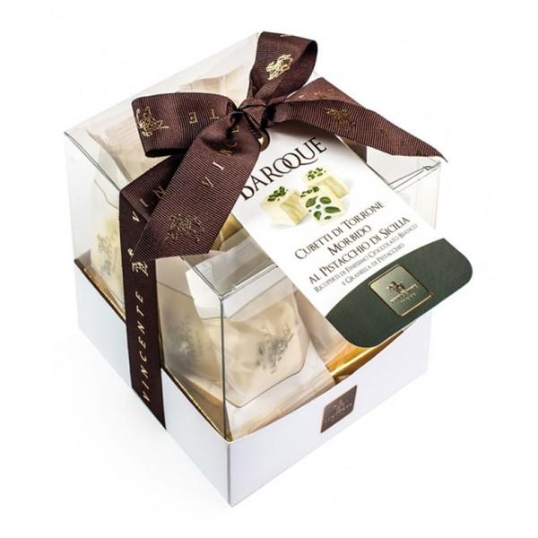 Vincente Delicacies - Cubetti di Torrone Morbido al Pistacchio di Sicilia Ricoperti di Finissimo Cioccolato Bianco - Baroque