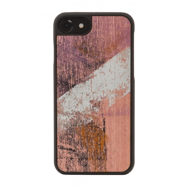 Wood'd - Vintage Pink Cover - iPhone X - Cover in Legno - Vintage Collection