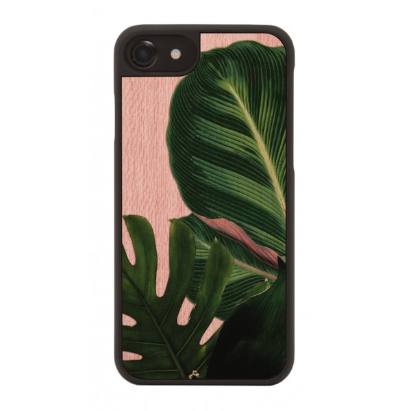 Wood'd - Jungle Cover - iPhone X - Cover in Legno - Pattern Floreali Collection