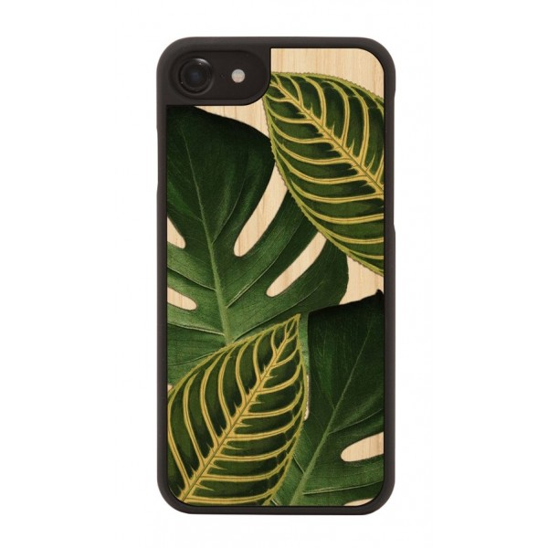 Wood'd - Amazonia Cover - iPhone X - Cover in Legno - Pattern Floreali Collection