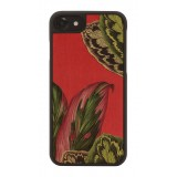 Wood'd - Red Forest Cover - iPhone 8 / 7 - Cover in Legno - Pattern Floreali Collection