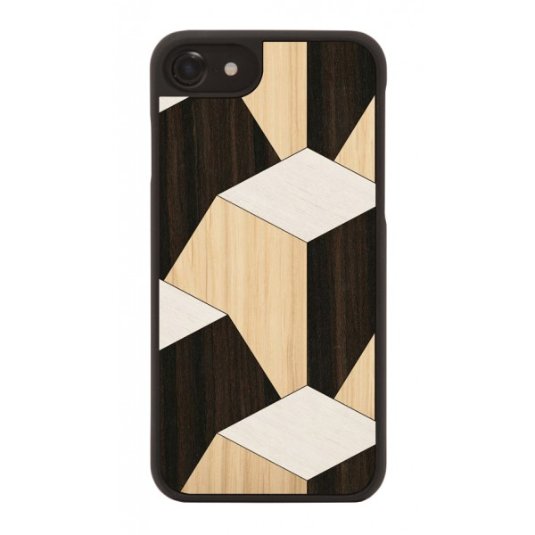 Wood'd - Pyramid Cover - iPhone X - Cover in Legno - Abstract Pattern Collection