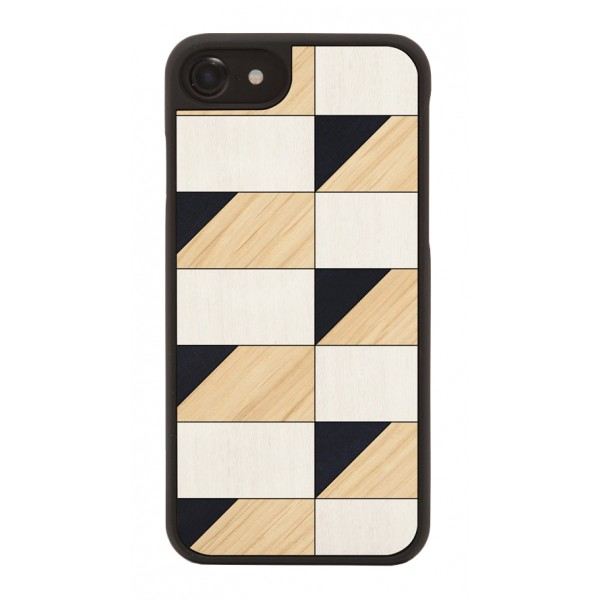 Wood'd - Brick Cover - iPhone X - Cover in Legno - Abstract Pattern Collection