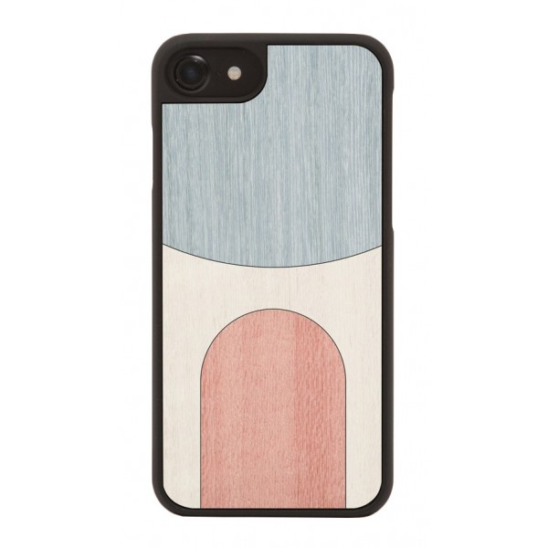 Wood'd - Inlay Light Blue Cover - iPhone X - Cover in Legno - Abstract Pattern Collection