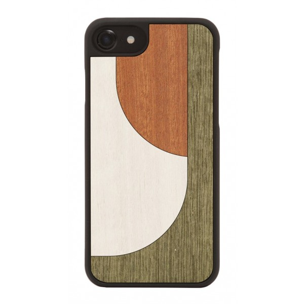 Wood'd - Inlay Brown Cover - iPhone X - Cover in Legno - Abstract Pattern Collection