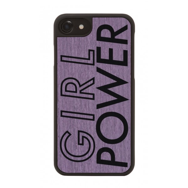 Wood'd - Girl Power Cover - iPhone X - Cover in Legno - Artwork Collection
