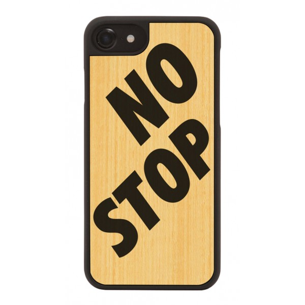 Wood'd - No Stop Cover - iPhone X - Cover in Legno - Artwork Collection