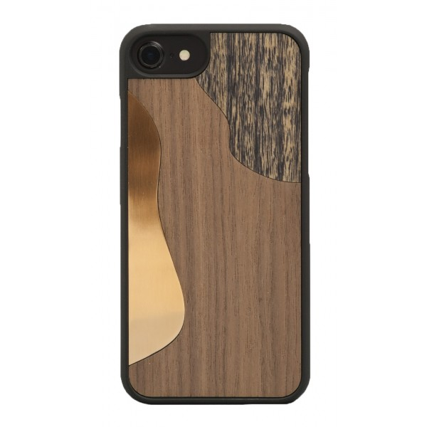 Wood'd - Bronzo Walnut Cover - iPhone X - Cover in Legno - Bronze Classics