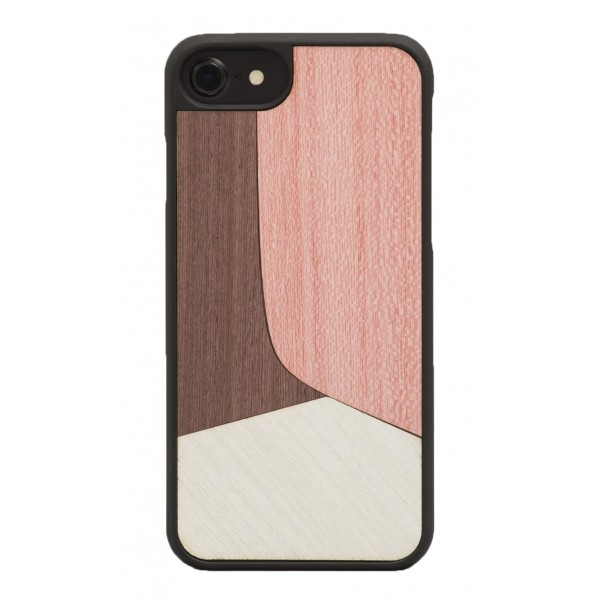 Wood'd - Inlay Pink Cover - iPhone X - Cover in Legno - Classic Collection