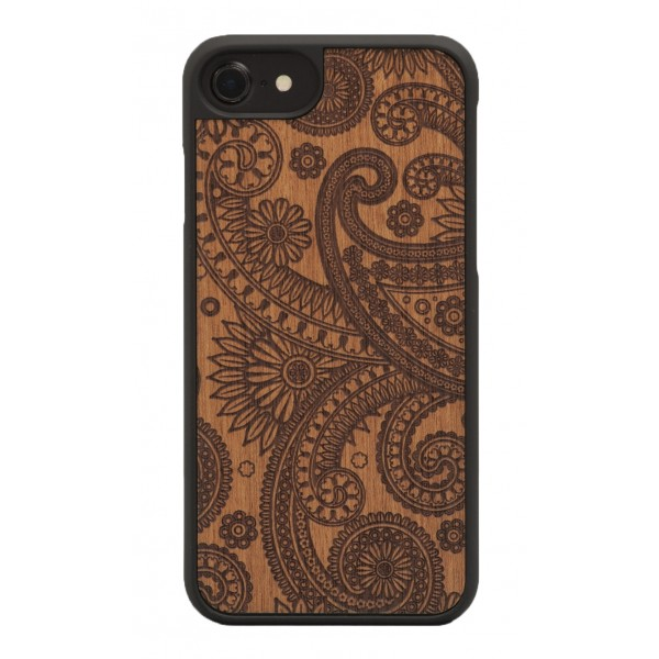 Wood'd - Damasked Mahogany Cover - iPhone X - Cover in Legno - Classic Collection