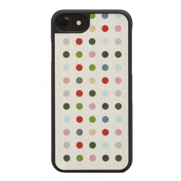 Wood'd - Colored Pois Cover - iPhone X - Cover in Legno - Classic Collection