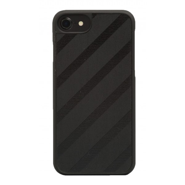 Wood'd - Black Regimental Cover - iPhone X - Cover in Legno - Classic Collection