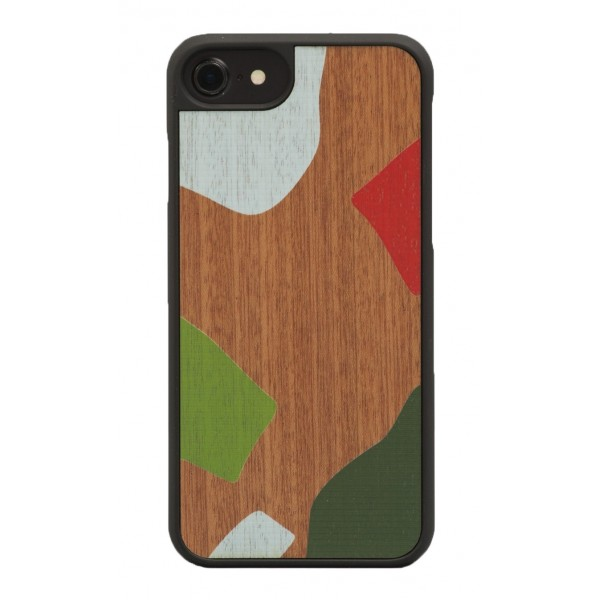 Wood'd - Stones Mahogany Cover - iPhone X - Cover in Legno - Classic Collection