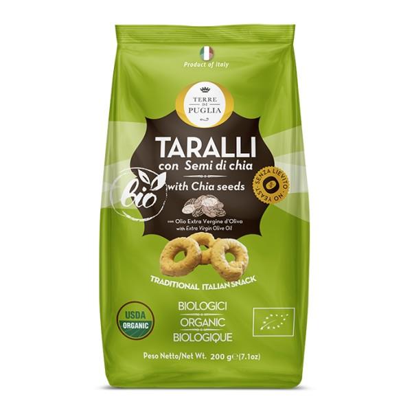 Terre di Puglia - Modern Organic Taralli - Chia Seeds - Salty Line - Bio Line