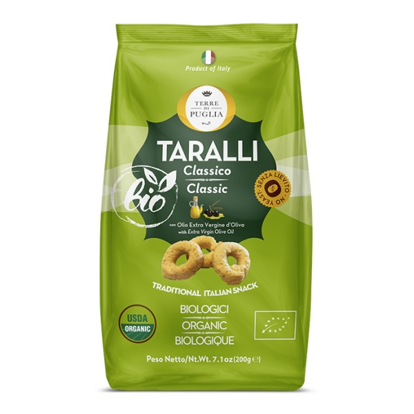 Terre di Puglia - Taralli Moderni Bio - Classico - Linea Salata - Linea Bio