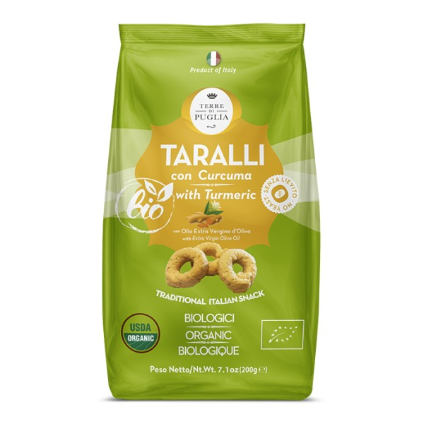 Terre di Puglia - Modern Organic Taralli - Tumeric - Salty Line - Bio Line