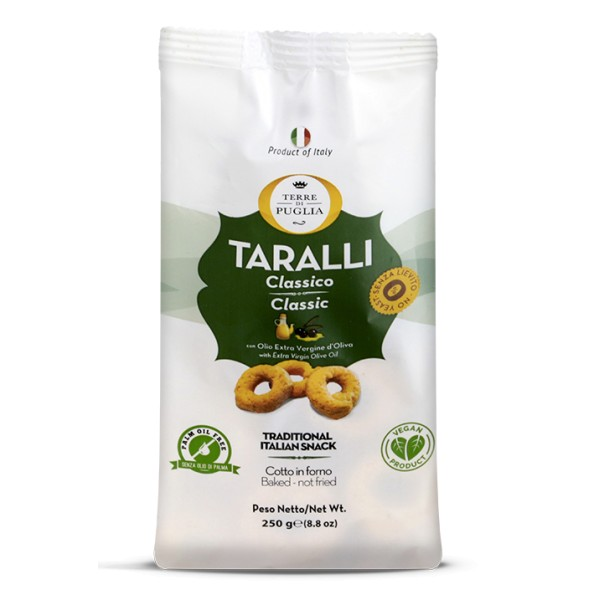 Terre di Puglia - Modern Taralli - Classic - Salty Line - Taralli with Extra Virgin Olive Oil