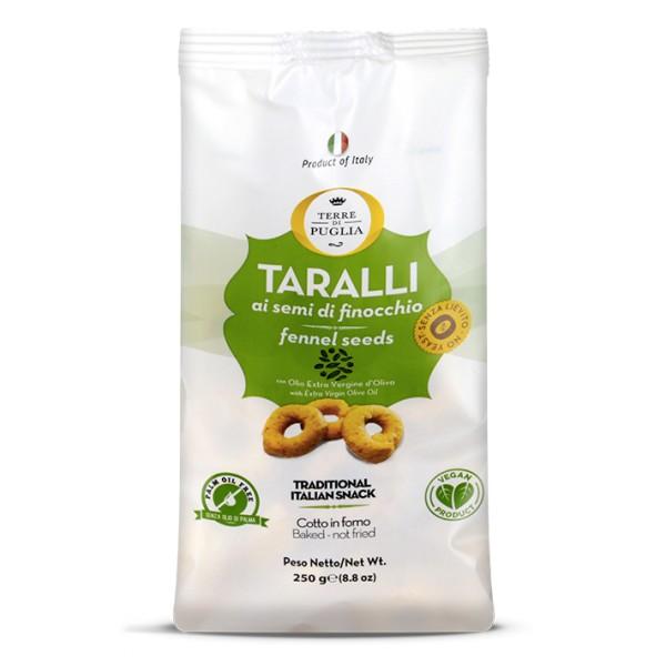 Terre di Puglia - Taralli Moderni - Gusto Finocchio - Linea Salata