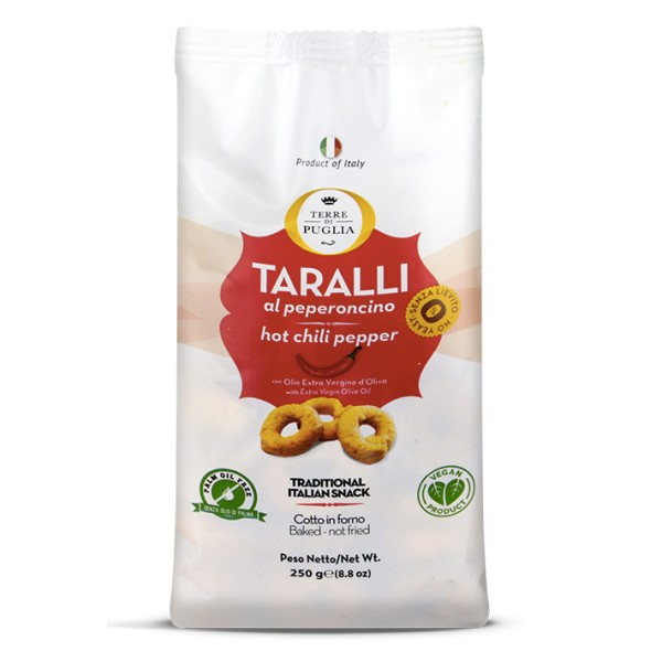 Terre di Puglia - Modern Taralli - Hot Chili Pepper - Salty Line