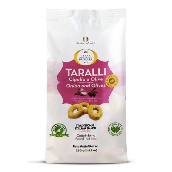 Terre di Puglia - Taralli Moderni  - Cipolla e Olive - Linea Salata