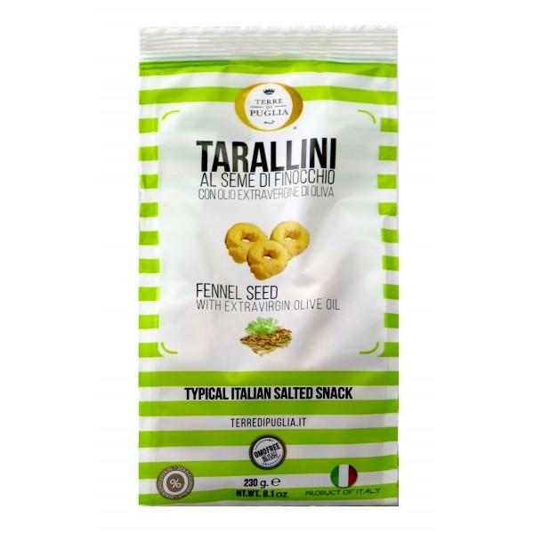 Terre di Puglia - Tarallini Millerighe - Semi di Finocchio - Linea Salata
