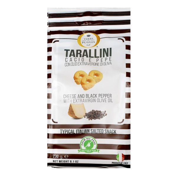 Terre di Puglia - Millerighe Tarallini - Cheese and Black Pepper Taste - Salty Line