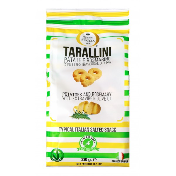 Terre di Puglia - Tarallini Millerighe - Patate e Rosmarino - Linea Salata