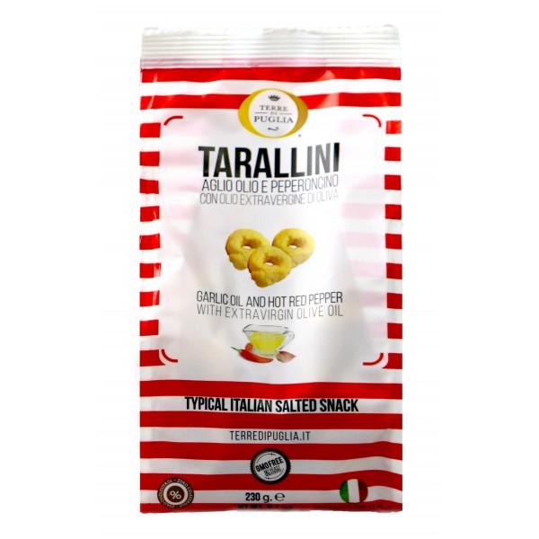 Terre di Puglia - Tarallini Millerighe - Aglio, Olio e Peperoncino - Linea Salata