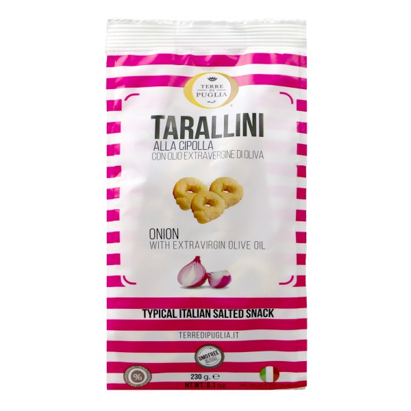 Terre di Puglia - Millerighe Tarallini - Onion Taste - Salty Line