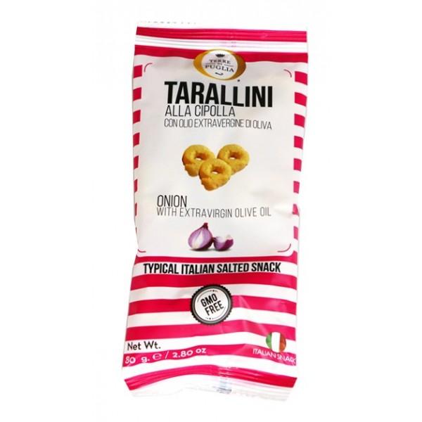 Terre di Puglia - Tarallini Millerighe - Cipolla - Linea Salata - Mini - 80 g
