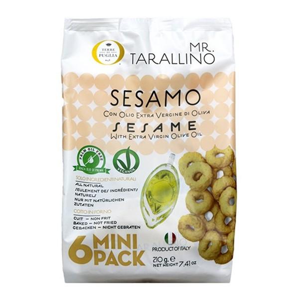 Terre di Puglia - Mr Tarallino - Gusto Sesamo - Linea Salata - Multipack