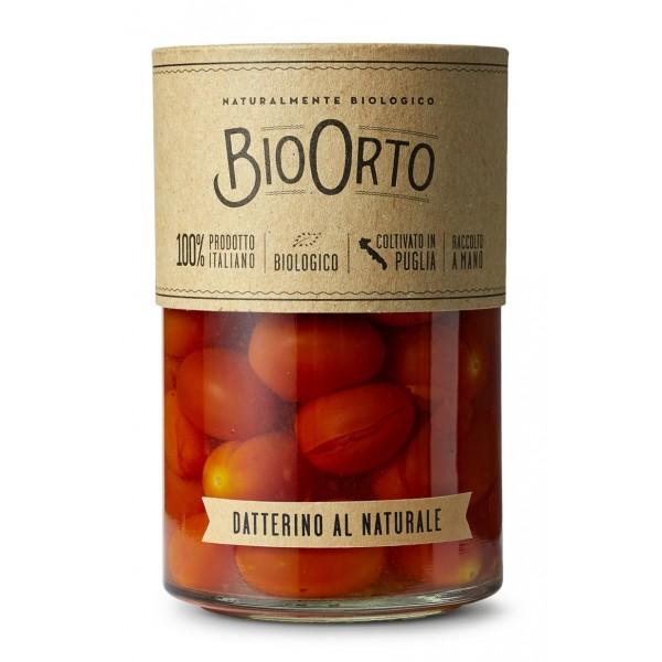 BioOrto - Pomodoro Datterino Bio al Naturale - Conserve Biologiche - 370 ml