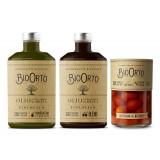 BioOrto - Kit Misto Grande Bio - Olio Blend Peranzana Ogliarola Bio - Pomodoro Datterino al Naturale Bio - Biologico