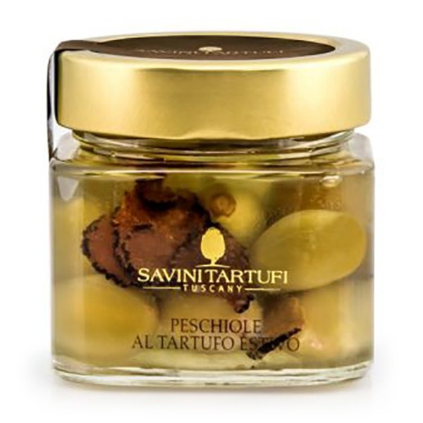 Savini Tartufi - Peschiole al Tartufo Estivo - Linea Collezione - Eccellenze al Tartufo - 212 g