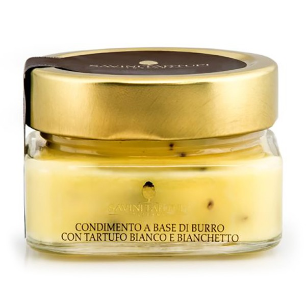 Savini Tartufi - Butter Based Dressing with White and Bianchetto Truffles - Collection Line - Truffle Excellence - 100 g
