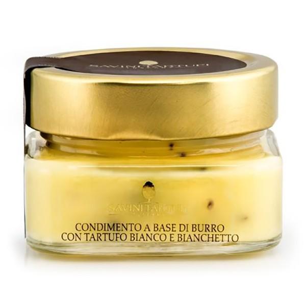 Savini Tartufi - Condimento a Base di Burro con Tartufo Bianco e Bianchetto - Linea Collezione - Eccellenze al Tartufo - 100 g