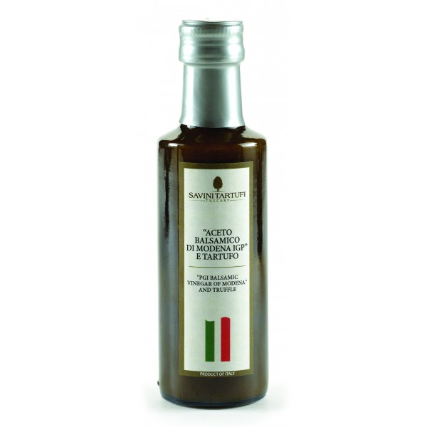 "Savini Tartufi - Condiment with Truffles with ""Balsamic Vinegar of Modena PGI"" - Tricolor Line - Truffle Excellence - 100 ml"