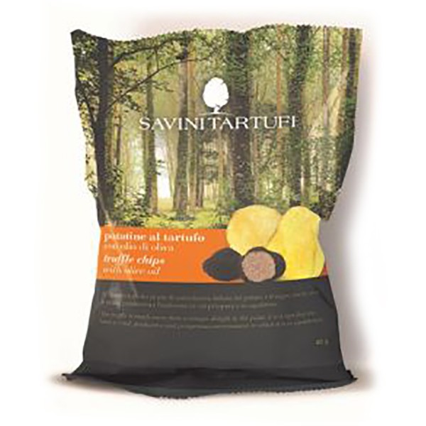 Savini Tartufi - Truffle Chips with Olive Oil - Snack Line - Truffle Excellence - 100 g