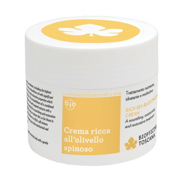 Biofficina Toscana - Crema Ricca all'Olivello Spinoso - Linea Corpo - Cosmetici Bio Vegan