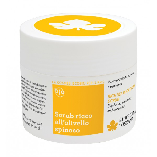 Biofficina Toscana - Rich Sea Buckthorn Scrub - Body Line - Organic Vegan Cosmetics