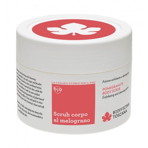Biofficina Toscana - Scrub Corpo al Melograno - Linea Corpo - Cosmetici Bio Vegan