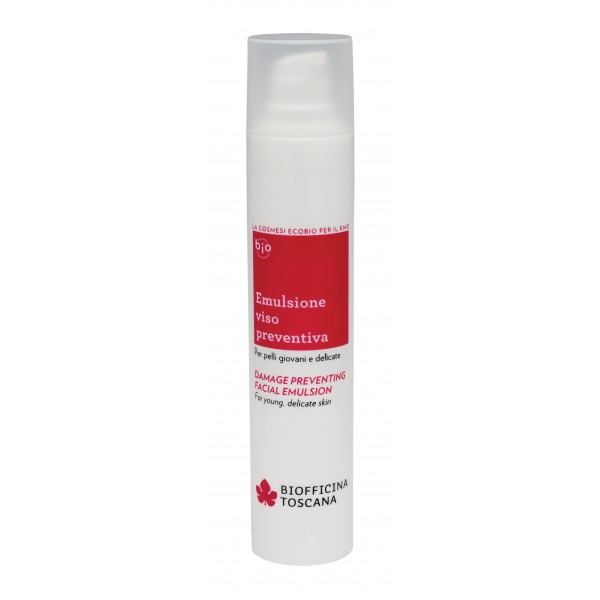 Biofficina Toscana - Damage Preventing Facial Emulsion - Facial Line - Organic Vegan Cosmetics