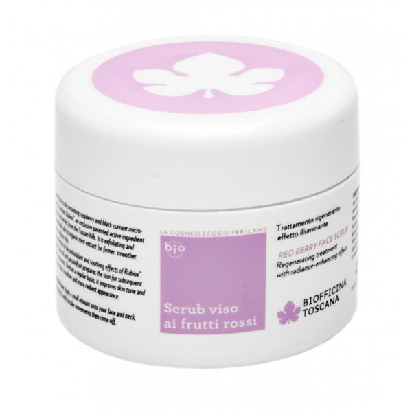 Biofficina Toscana - Red Berry Face Scrub - Facial Line - Organic Vegan Cosmetics