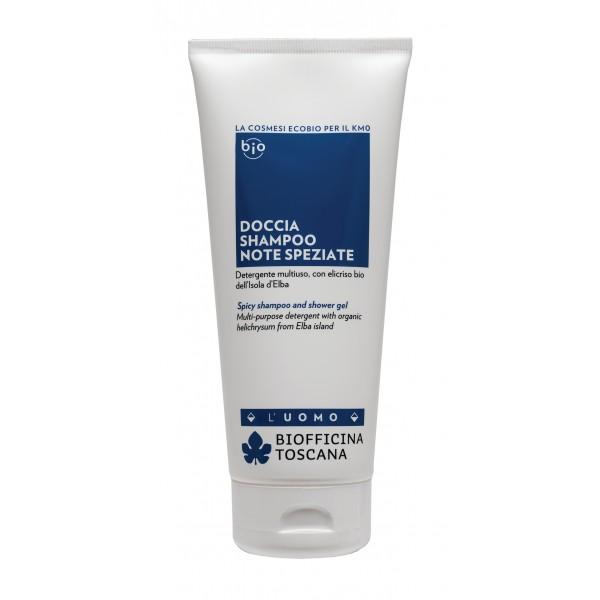 Biofficina Toscana - Spicy Shampoo and Shower Gel - Men's Line - Organic Vegan Cosmetics