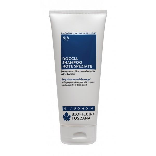 Biofficina Toscana - Doccia Shampoo Note Speziate - Linea Uomo - Cosmetici Bio Vegan