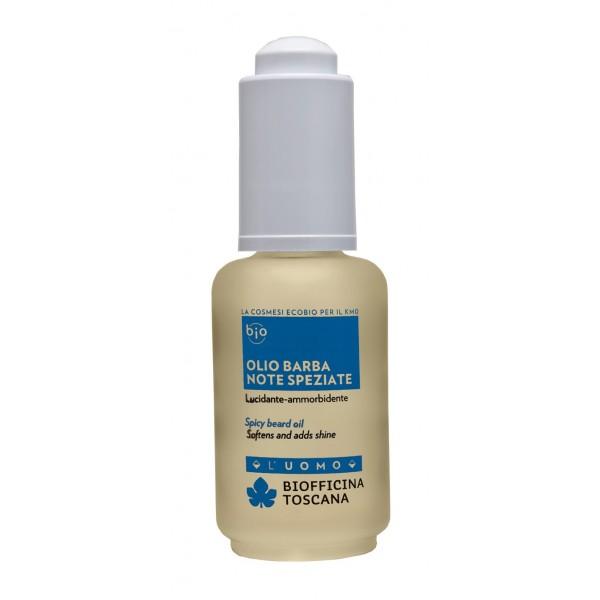 Biofficina Toscana - Olio Barba Note Speziate - Linea Uomo - Cosmetici Bio Vegan