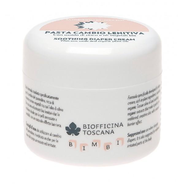 Biofficina Toscana - Pasta Cambio Lenitiva - Linea Bimbi - Cosmetici Bio Vegan