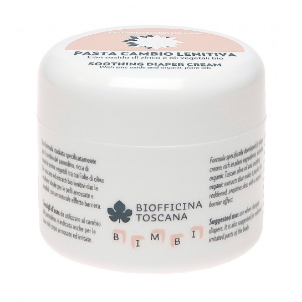 Biofficina Toscana - Soothing Nappy Cream - Children's Line - Organic Vegan Cosmetics